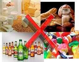 alimentos proibidos